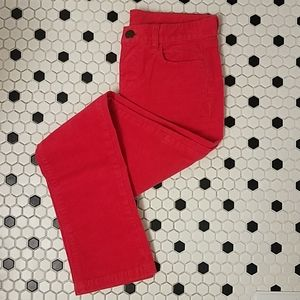J Crew Matchstick City Fit Corduroy Pants Red 26S